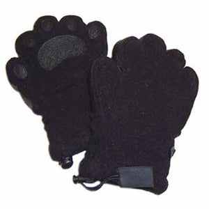 Kids Black Fleece Mittens