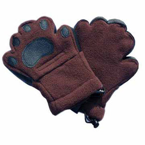 Kids Brown Fleece Mittens