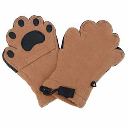 Kids Camel Fleece Mittens