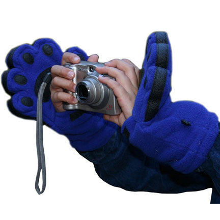 Kids Cobalt Blue Fleece Mittens