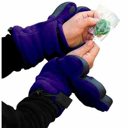Kids Dark Purple Fleece Mittens