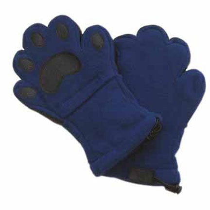 Kids Navy Fleece Mittens