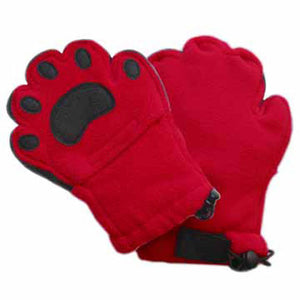 Kids Red Fleece Mittens