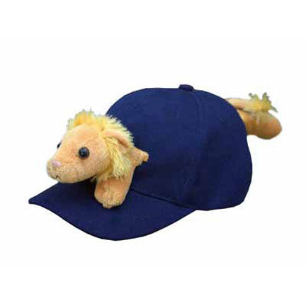 Lion on Navy Baseball Cap