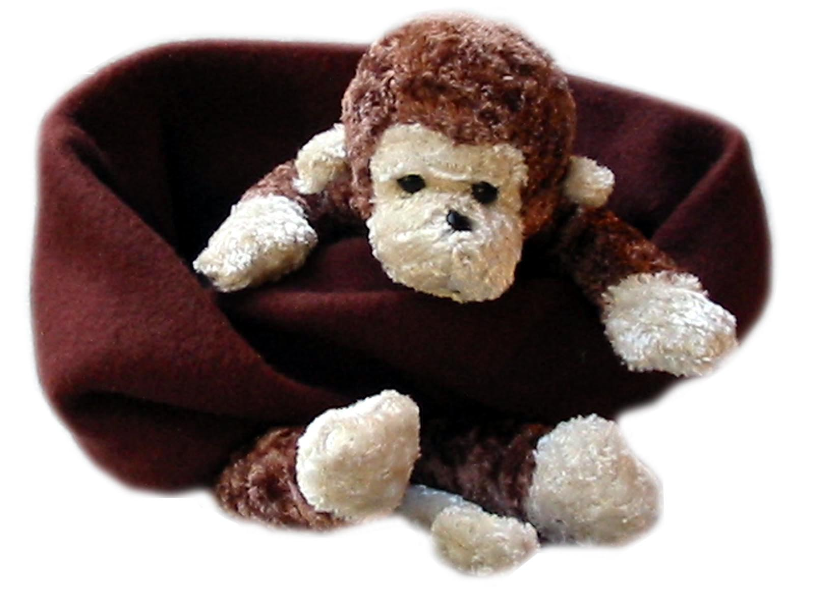 Cheeky Monkey on Brown Fleece Buddy Scarf