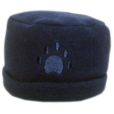 Navy Paw Print Fleece Hat