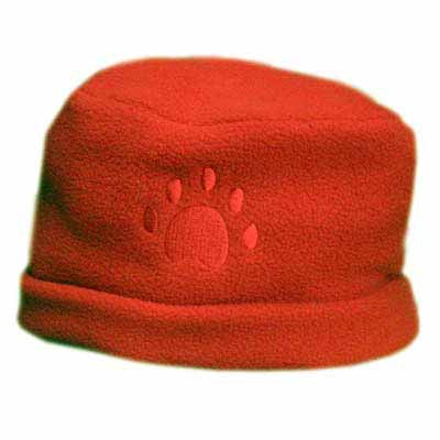 Orange Paw Print Fleece Hat