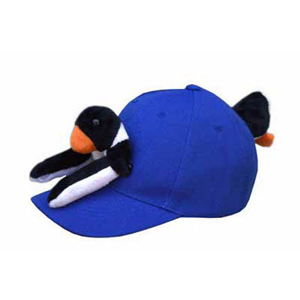 Penguin on Cobalt Blue Baseball Cap