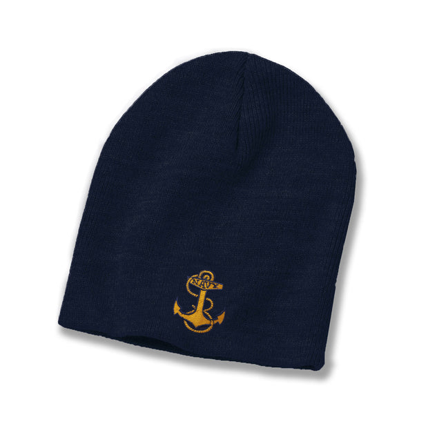 Navy Anchor American-Made Watch Cap - Navy