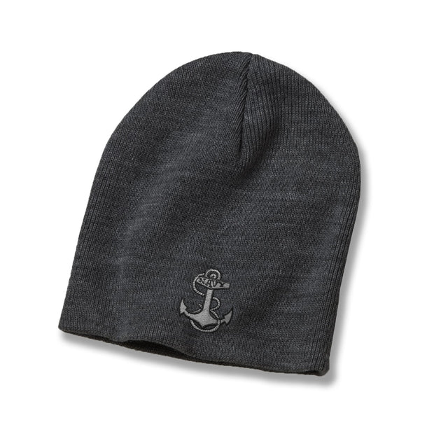 Navy Anchor American-Made Subdued Watch Cap - Grey