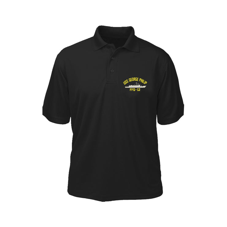 USS George Philip FFG-12 Performance Polo - Made in America