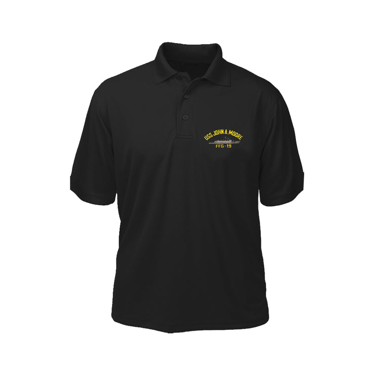 USS John A. Moore FFG-19 Performance Polo - Made in America
