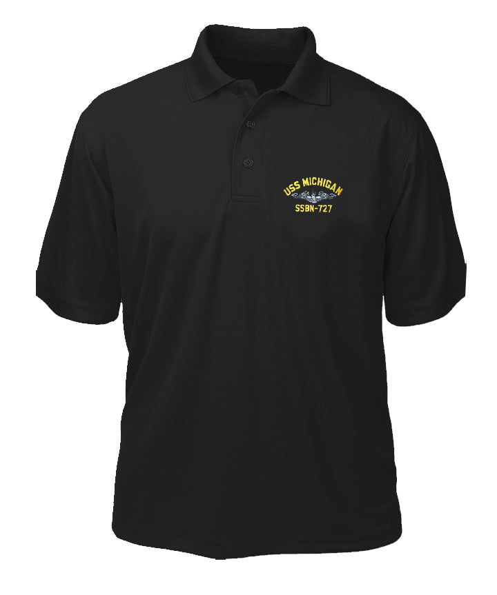 USS Michigan SSBN-727 Performance Polo - Made in America