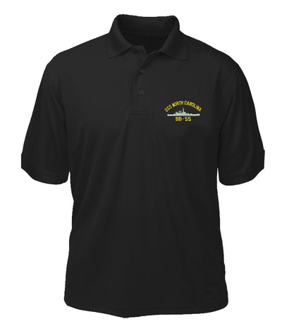USS North Carolina BB-55 Performance Polo - Made in America