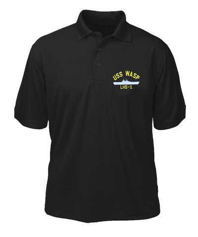 USS Wasp LHD-1 Performance Polo - Made in America