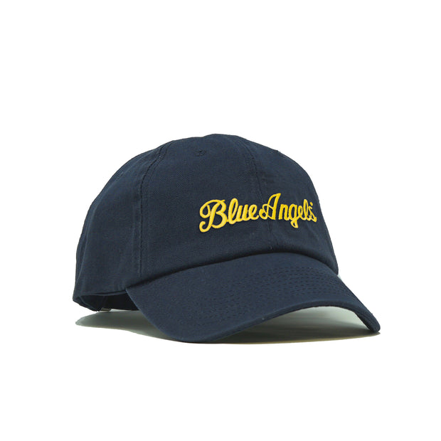Blue Angels Script American-Made Unstructured Hat