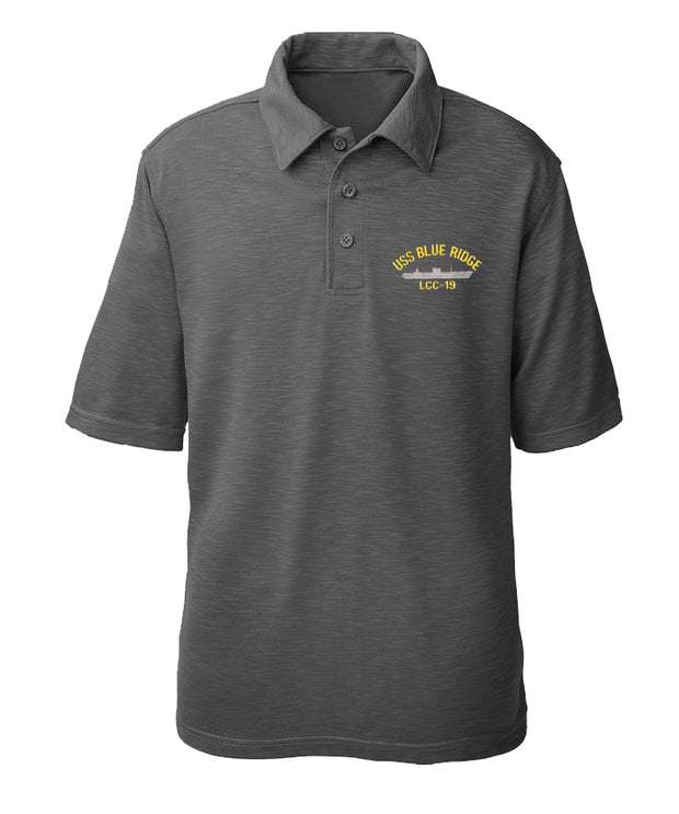 USS Blue Ridge LCC-19 Performance Polo - Made in America