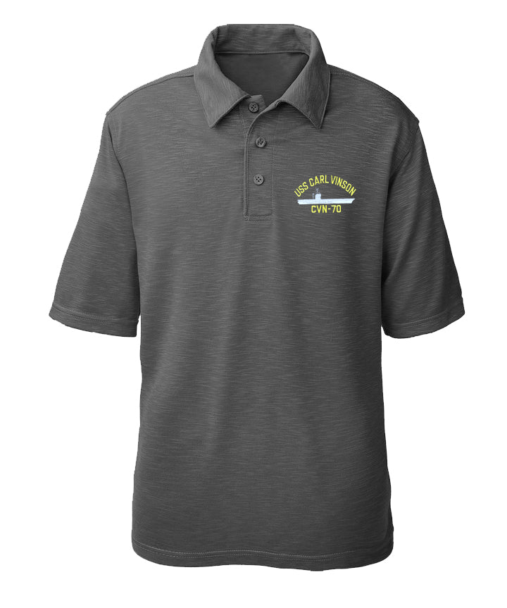 USS Carl Vinson CVN-70 Performance Polo - Made in America