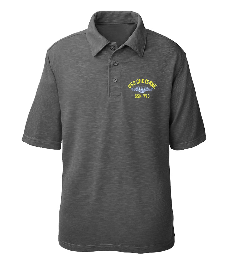 USS Cheyenne SSN-773 Performance Polo - Made in America
