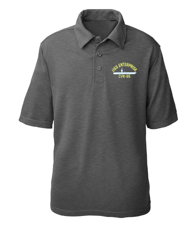 USS Enterprise CVN-65 Performance Polo - Made in America
