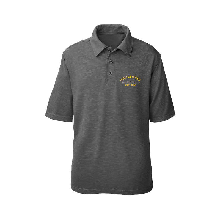 USS Fletcher DD-992 Performance Polo - Made in America