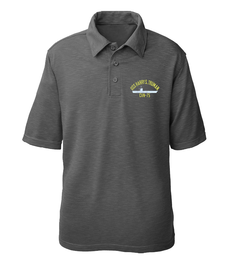 USS Harry S. Truman CVN-75 Performance Polo - Made in America