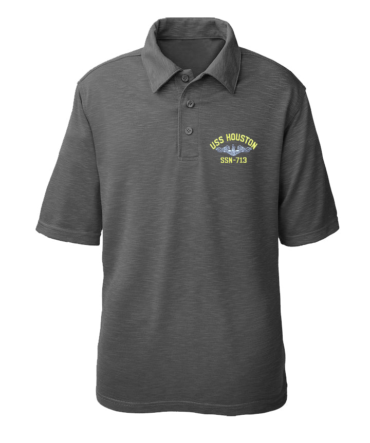 USS Houston SSN-713 Performance Polo - Made in America