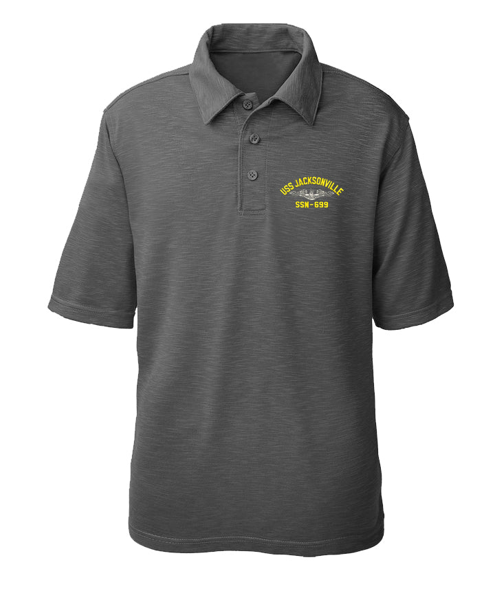 USS Jacksonville SSN-699 Performance Polo - Made in America