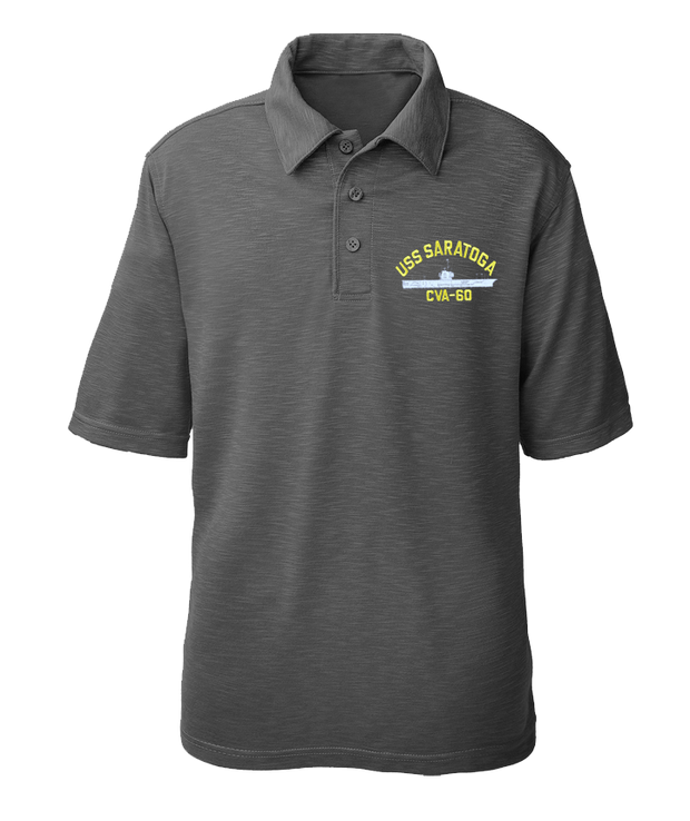 USS Saratoga CVA-60 Performance Polo - Made in America