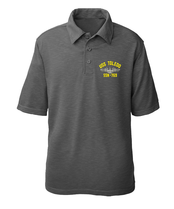 USS Toledo SSN-769 Performance Polo - Made in America