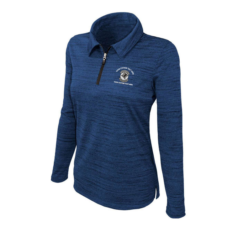 Custom American-Made Squadron Performance Quarter-Zip - Ladies