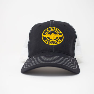 Naval Aviation Trucker Hat - Black