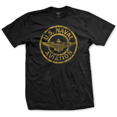 Naval Aviation Patch T-Shirt - Black