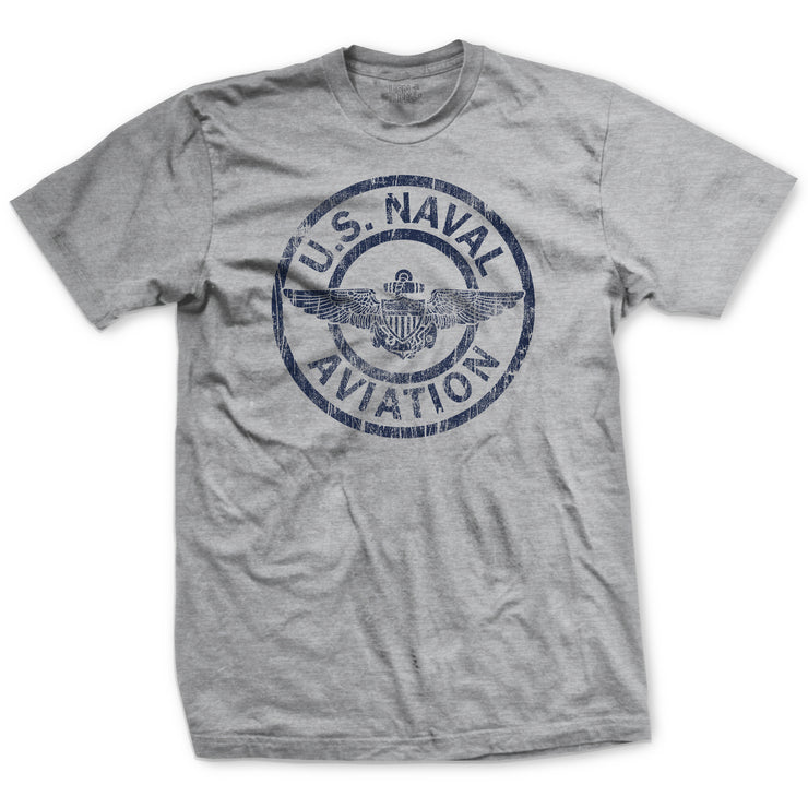 Naval Aviation Patch T-Shirt - Heather Grey
