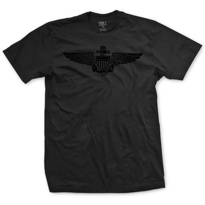 Blackout Naval Aviation Wings T-Shirt