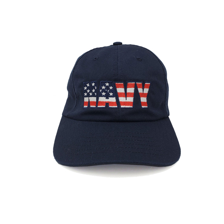 Navy Flag American-Made Unstructured Hat - Navy