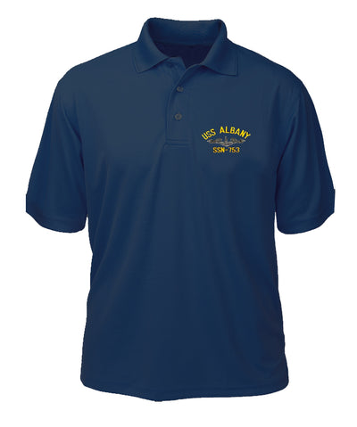 USS Albany SSN-753 Performance Polo - Made in America