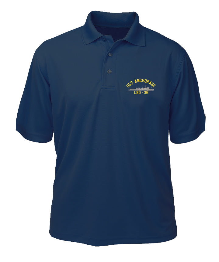 USS Anchorage LSD-36 Performance Polo - Made in America