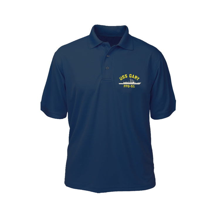 USS Gary FFG-51 Performance Polo - Made in America
