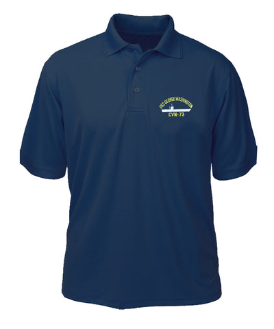 USS George Washington CVN-73 Performance Polo - Made in America