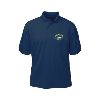 USS Milius DDG-69 Performance Polo - Made in America