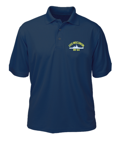 USS Alabama BB-60 Performance Polo - Made in America