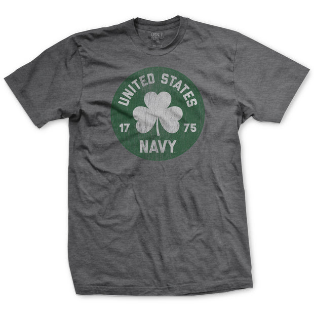 US Navy Circle St. Patrick's Day T-Shirt - Grey