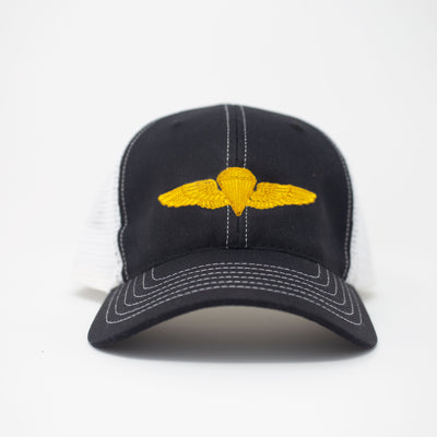 Parachutist Trucker Hat - Black