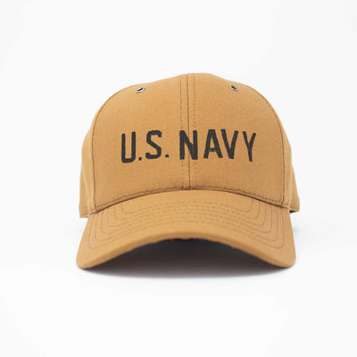 U.S. Navy Workwear Canvas Hat - Black Insignia