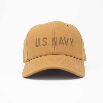 U.S. Navy Workwear Canvas Hat - Brown Insignia