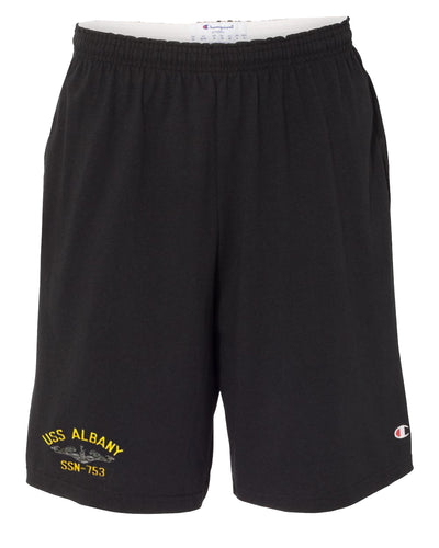 USS Albany SSN-753 Cotton Champion® Shorts