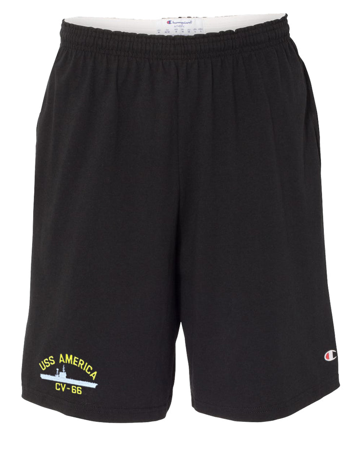 USS America CV-66 Cotton Champion® Shorts