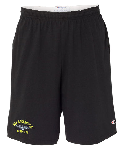 USS Archerfish SSN-678 Cotton Champion® Shorts