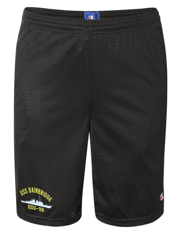 USS Bainbridge DDG-96 Mesh Champion® Shorts